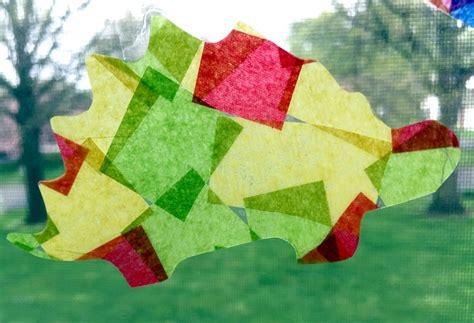tissue paper suncatcher craft how to make tissue paper suncatchers easy crafts