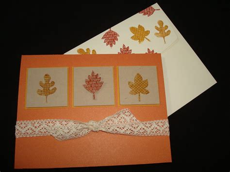 make thanksgiving cards my make and take place thanksgiving cards
