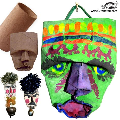 empty toilet paper roll crafts krokotak empty toilet roll masks