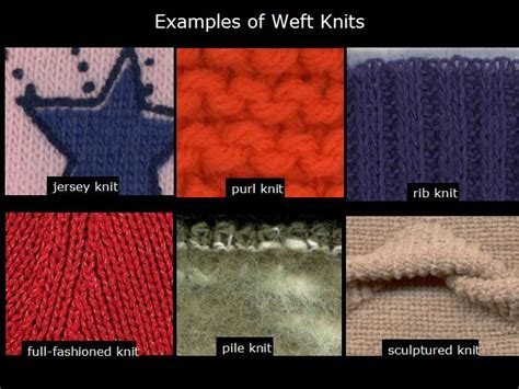 types of knits itextiles terminology weft knit fabric