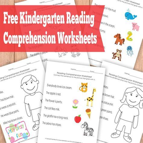free reading free kindergarten reading comprehension worksheets free