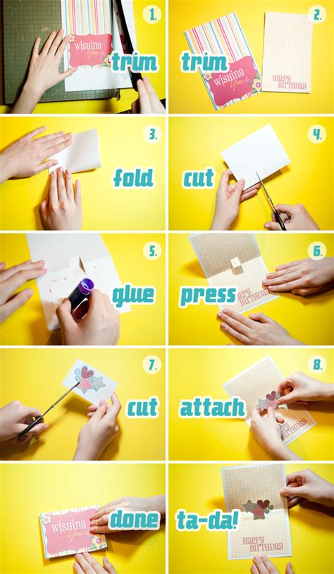 how to make a card out of paper how to make a pop up card from scrap a tutorial