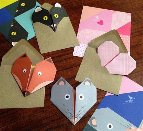 original origami origami notepaper set mouse by lollipop designs