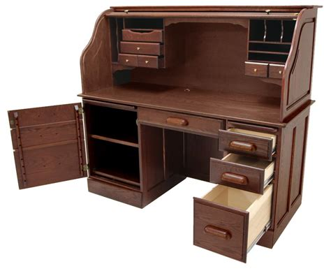 oak finish computer desk solid oak rolltop computer desk in cherry finish in stock