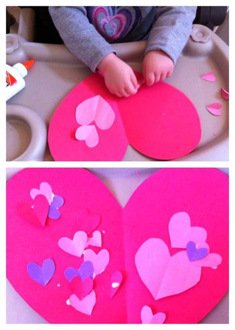 construction paper valentines day crafts crafts for toddlers contact paper and