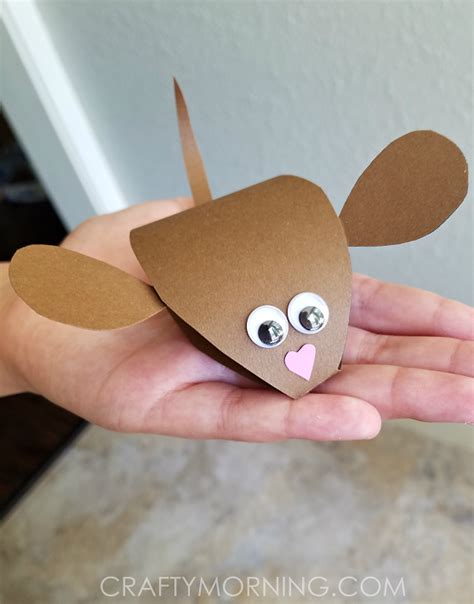 mouse paper craft 3d paper mouse craft for crafty morning