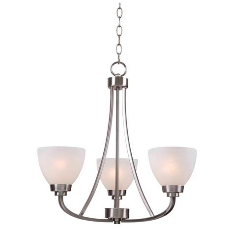 brushed steel chandelier hton bay hastings 3 light brushed steel chandelier