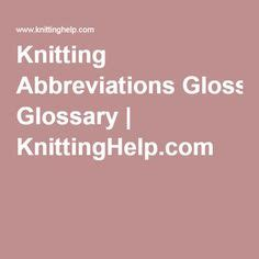 knitting term ssk 1000 ideas about knitting abbreviations on