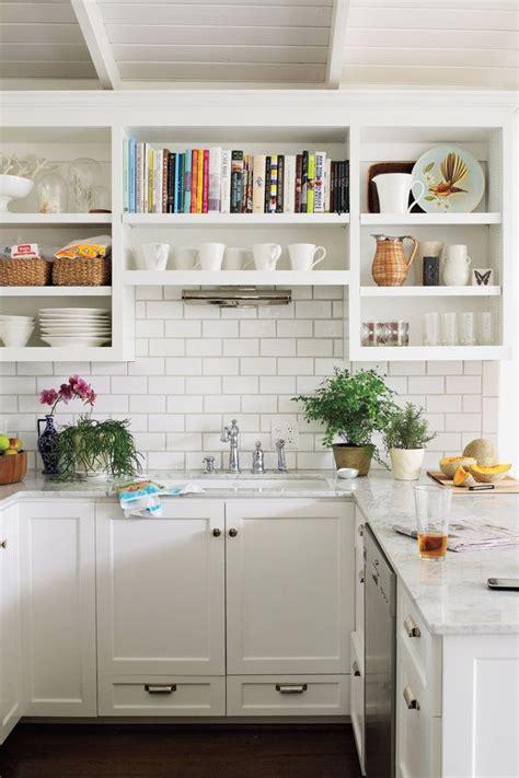 classic white shaker kitchen cabinets best 25 open shelf kitchen ideas on open