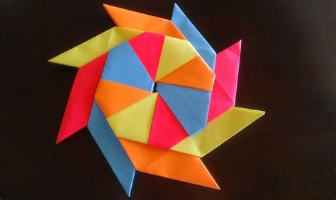 how to make a origami shuriken paper crafts