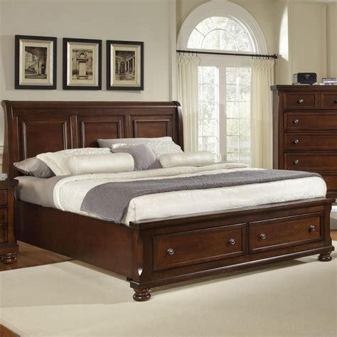 bassett furniture bedroom vaughan bassett reflections king storage bed with sleigh