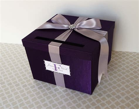 how to make a card box for a wedding wedding card box purple money holder customizable