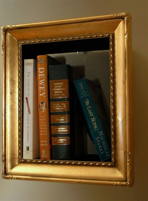 picture frame book illusory picture frame bookshelves diy bookshelf