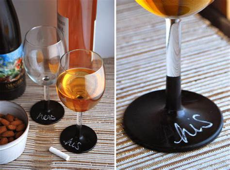 diy chalk paint on glass diy chalkboard wine glasses are much classier than sharpie