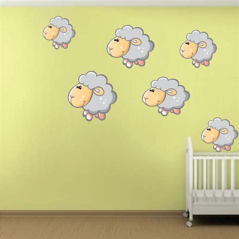 nursery wall mural decals nursery sheep wall mural decal nursery wall decal murals