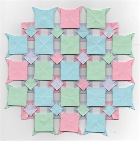 origami quilt multi colored origami quilt square by eiirlys on deviantart