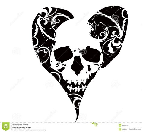 skull in heart royalty free stock image image 9356456
