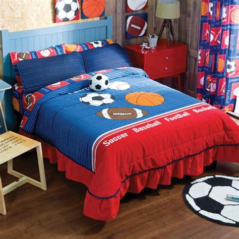 sports bedding set new boys sports soccer football basketball bedspread