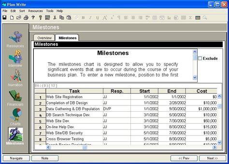 milestone kitchen planner plan your business plan software implement business plan