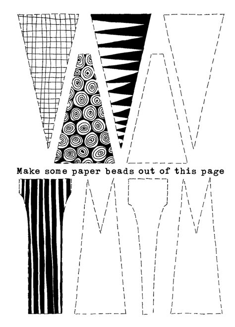 paper bead patterns paper craftfoxes