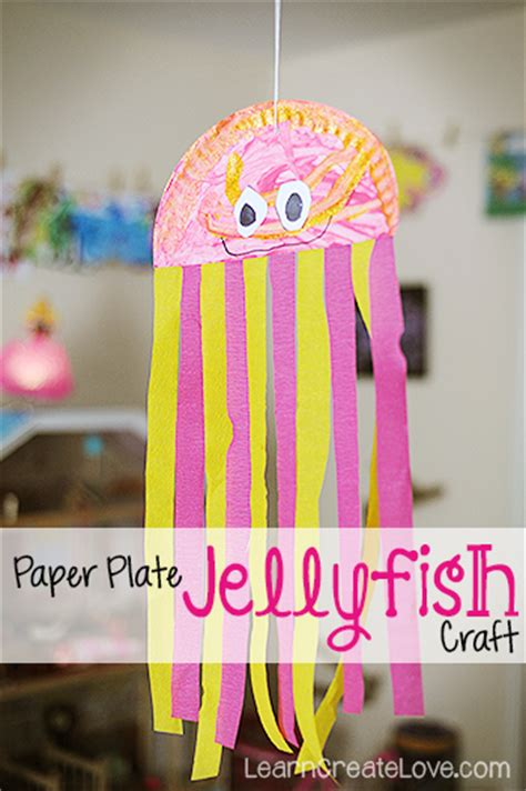 paper jellyfish craft paper plate jellyfish craft