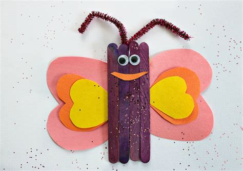 butterfly craft for popsicle stick butterfly craft for