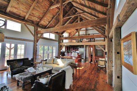barn home interiors green mountain timber frames vermont barn homes interior