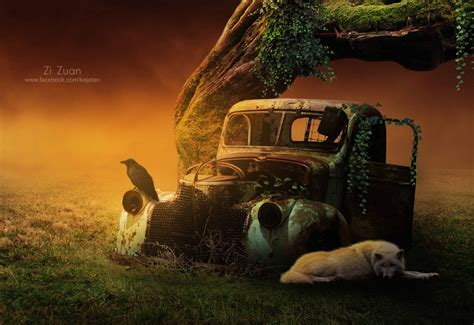 Photoshop Cc Photo Manipulation Tutorials Lighting Effects Car by Photoshop Tutorial Lighting Effect Photo Manipulation