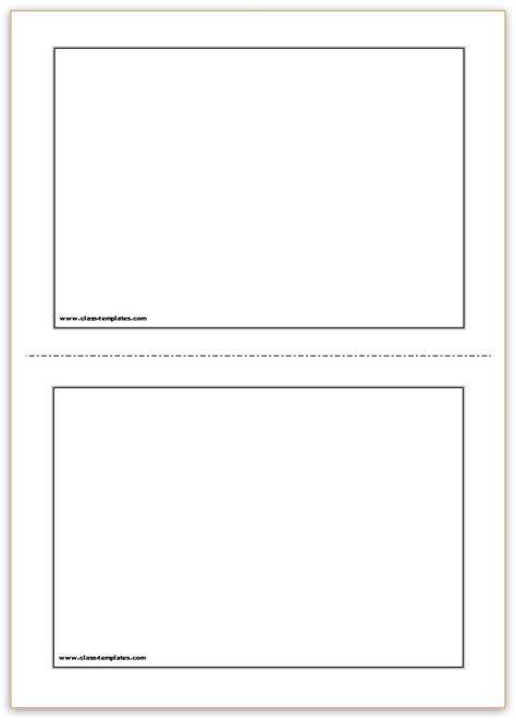 card templates to print free free printable flash cards template