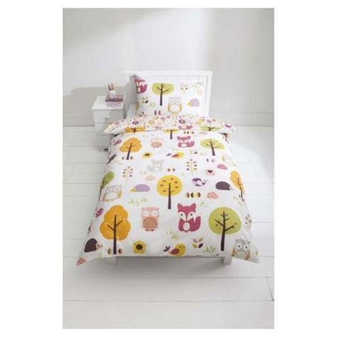 tesco single bedding sets buy tesco 100 cotton woodland print duvet cover set