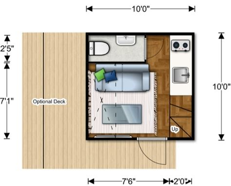 Micro Home 100 sq ft prefab nomad micro home could you live this