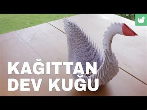dev origami origami kağıttan dev kuğu yapımı
