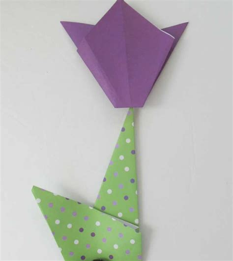 paper tulip origami make a simple origami tulip with your