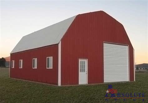 Barn Style gambrel barn style metal building kit