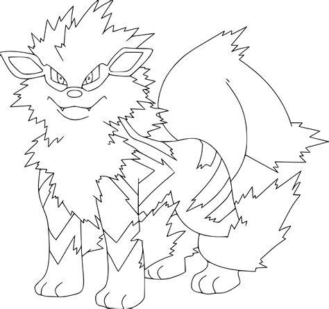 Coloriage Arcanin Pokemon 224 Imprimer