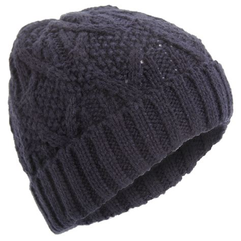 knit mens hat mens classic cable knit winter beanie hat ebay