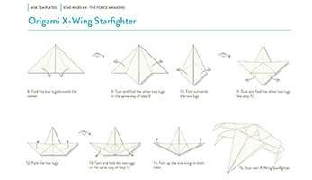 x wing fighter origami wars the emerges from paper moleskine