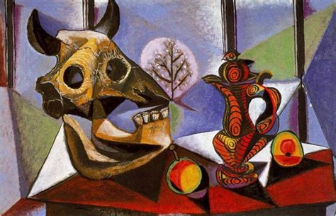 picasso paintings in usa still with bull s skull artist pablo picasso