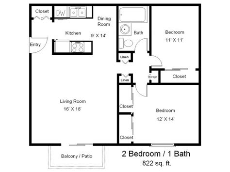 two bed two bath floor plans one bedroom one bath floor plans two bedrooms one