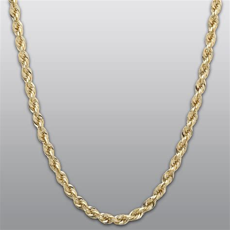 chain jewelry yellow gold 10k rope chain necklace