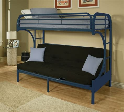metal futon bunk bed assembly blue metal c shape futon bunk bed with ladder