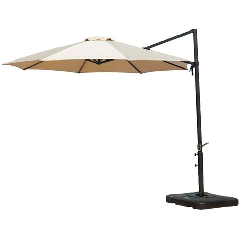 patio cantilever umbrella hanover 11 ft cantilever patio umbrella in cantilever