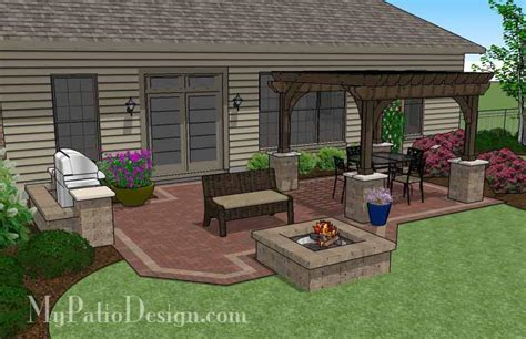brick patio designs with pit traditional brick patio design with pergola and pit