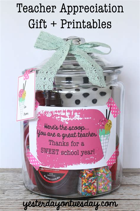 gifts teachers appreciation gift in jar yesterday on tuesday