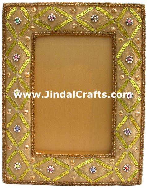 beaded picture frames embroidered beaded photo picture frame india arts