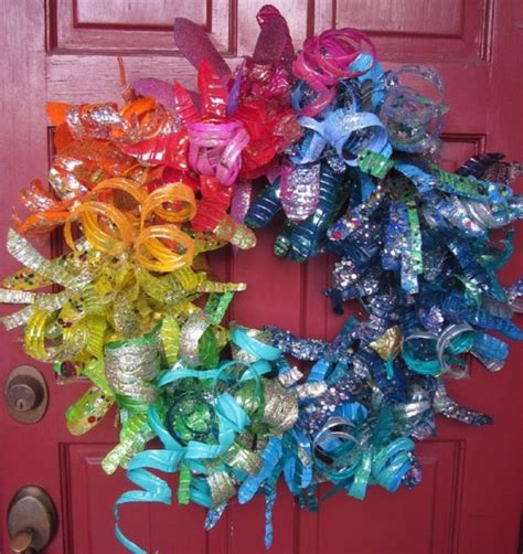 plastic water bottle crafts for recycled crafts plastic bottle flower wreath 187 dollar