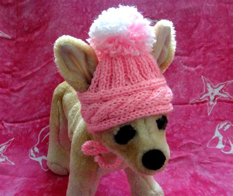 knitted hats for dogs pet clothes apparel handmade knit hat for small