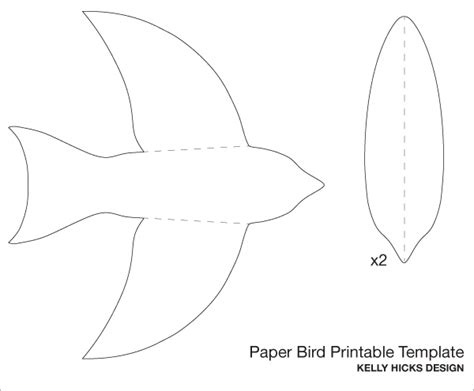 paper bird craft template 5 best images of birds flying cutouts printable paper