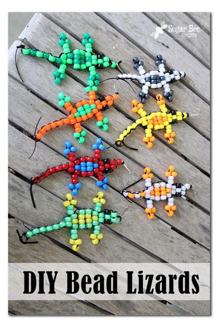 bead it here diy pony bead lizards c craft tutorial from sugar bee