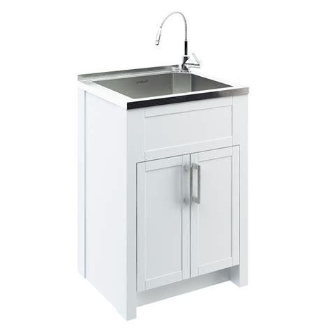 laundry cabinet with stainless steel laundry tub with cabinet images
